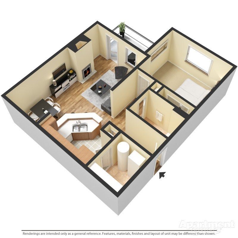Sassafras Floorplan at Pepperwood Apartments